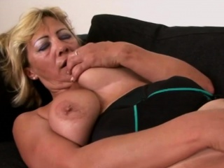 Busty gilf gets her cunt deflowered by big black cock
