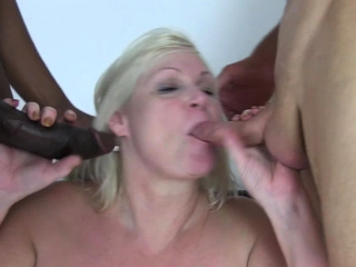 Blacked granny creampied