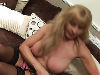 HOT British granny with big saggy tits