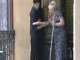 Fat blond granny fucked