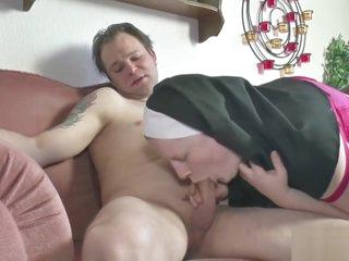 German young boy seduce granny nun to fuck him