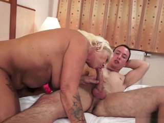 Hairy Grandma Loves Riding Cock