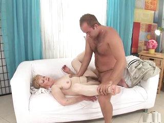 Crazy pornstar in horny hairy, mature porn movie