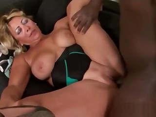 Busty Grandma Gets Her Wet Pussy Banged By Big Black Cock