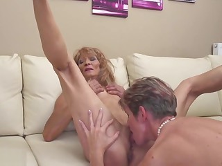 Young girl seduced by two old lesbians