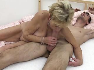 Young guy fucks his grandma