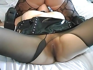 chubby lesbian mistress with granny slave