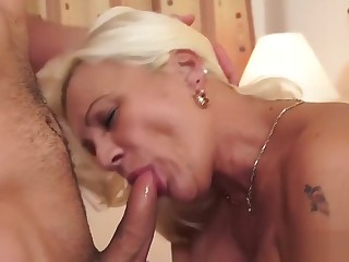 Sexy and Busty Granny Loves Hard Cock in Her Pussy