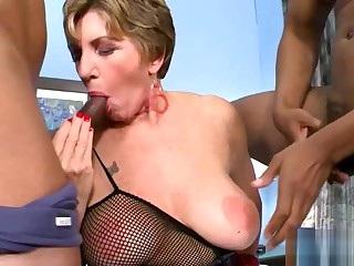 Anal scenes with big titted mature sluts