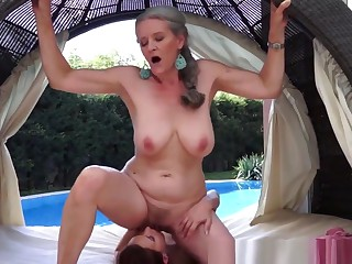 Saggytits Granny Licking Teen Pussy Outdoors