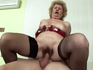 Hard Sex Makes Horny Blonde Granny Feel Young Again