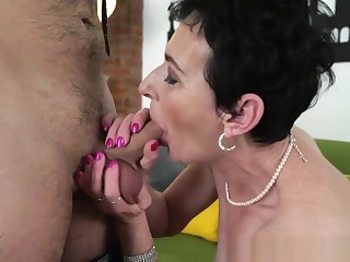 Mouth Jizzed Gilf Fucks