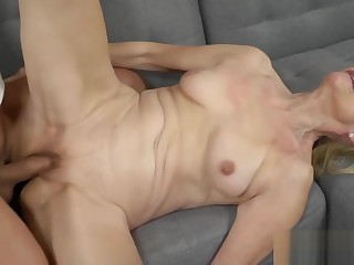 Granny Loves a Big Hard Cock in Her Pussy