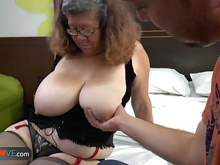 AGEDLOVE - Latin granny Brenda seducing water supplier