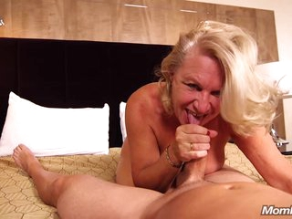 Suzan is making a porn scene for the first time ever, and it looks like she likes it a lot
