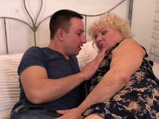 Mature blonde BBW got down and dirty with a much younger guy and enjoyed it a lot