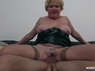 French Granny Spreads Legs To Makes Love