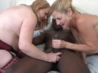 Molly Maracas In Two White English Milfs Interracial Sex